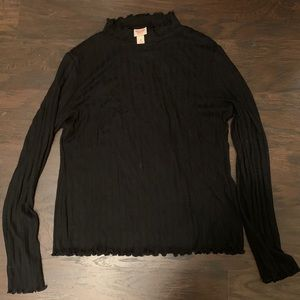 Frilly mock neck long sleeve from Target!